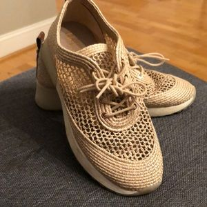 Sam Edelman Raffia Sneakers size 7